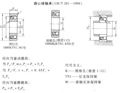 nsk调心球轴承结构图纸